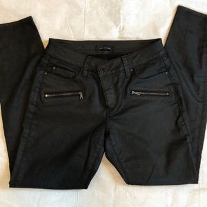 Ann Taylor Coated Black Jeans